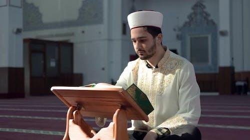 Imam Reading Quran Mosque