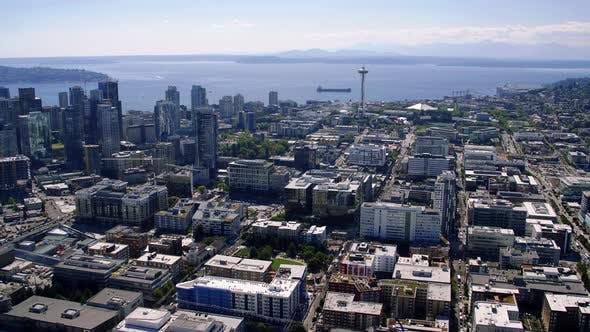 Thumbnail for Seattle Washington Usa City Skyline Aerial