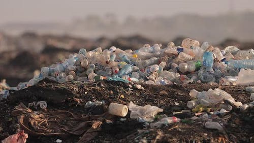 Piles Of Trash In A Landfill