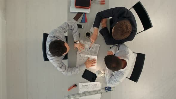 Thumbnail for Architects with Blueprint at Building Site. Construction, Architecture, Business, Teamwork and