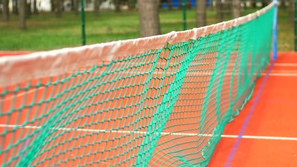 Thumbnail for Tennis Ball Hitting the Tennis Net During Match