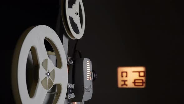 Thumbnail for Watching Films On Retro Cinema Projector.