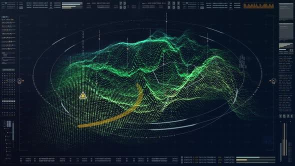 Thumbnail for Futuristic Military HUD Holographic Terrain