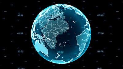 Globe & Numbers