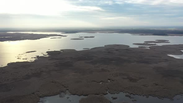 Thumbnail for Aerial Drone Footage of Lake Engure