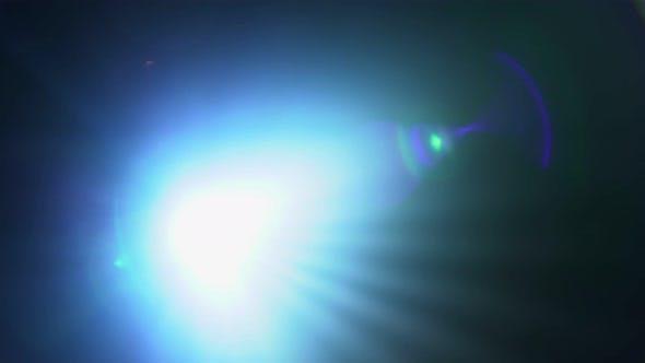 Spot Light for Disco or Concert Shinning Straight Towards Camera
