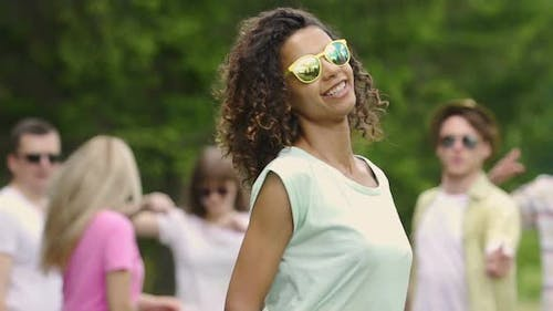Professional Actress Posing and Dancing for Camera in Video Clip, Youthfulness