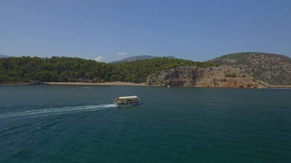 Thumbnail for Tour Boat in Turkey Aerial