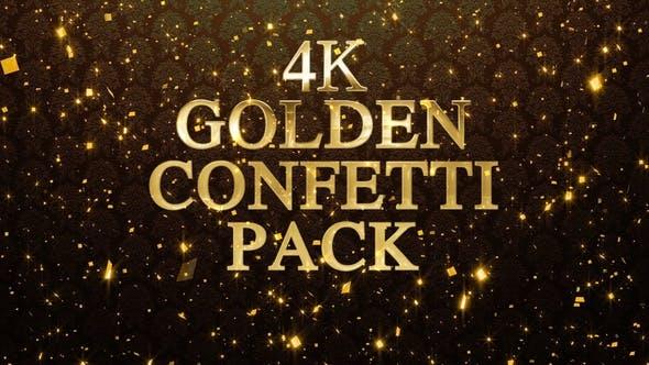 Thumbnail for 4k Golden Confetti Pack