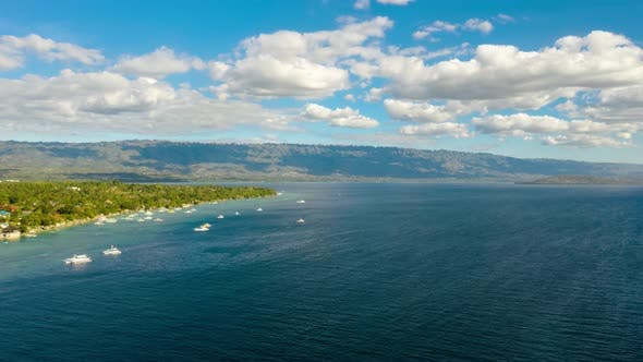 Thumbnail for Seascape, Island and Sky with Clouds Time Lapse, Cebu, Philippines