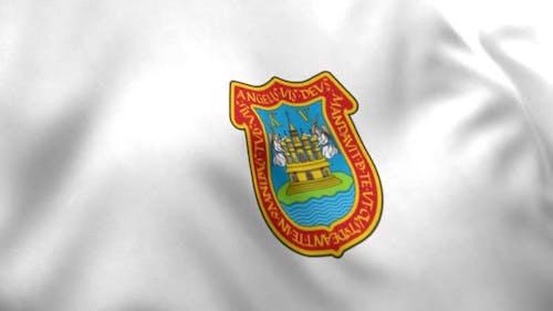 Puebla de Zaragoza City Flag (Mexico)