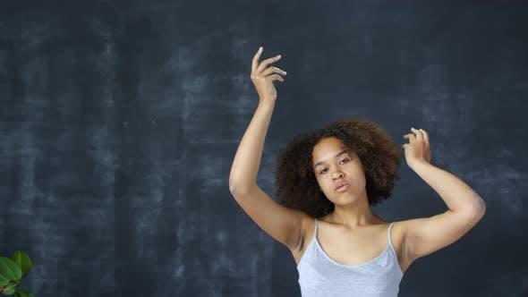 Elegant Young Black Woman Posing