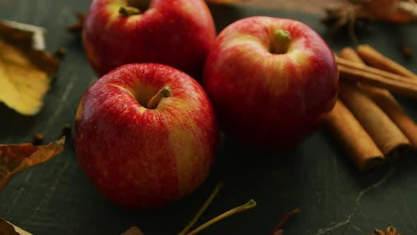 Autumn Red Apples and Spices