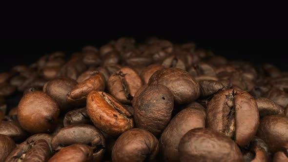 Aromatic Coffee Bean. Close-up.
