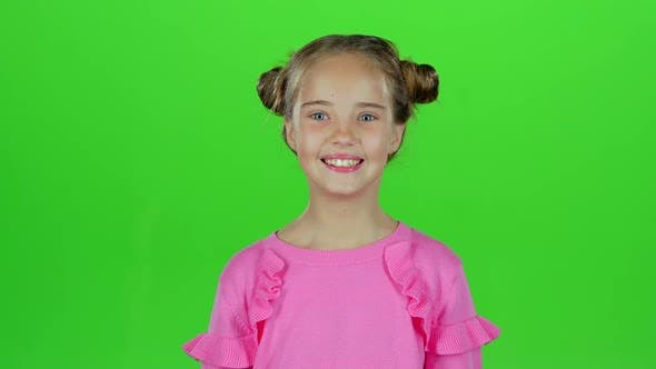 Thumbnail for Baby Smiles She's Happy, Green Screen