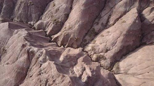 Badlands Western Region in Spring Erosion Topography Cliffs Weathered Geology