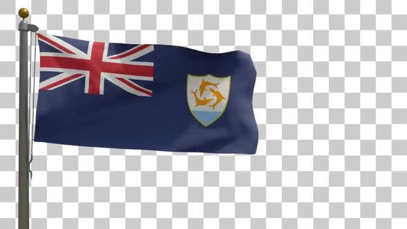 Thumbnail for Anguilla Flag on Flagpole with Alpha Channel