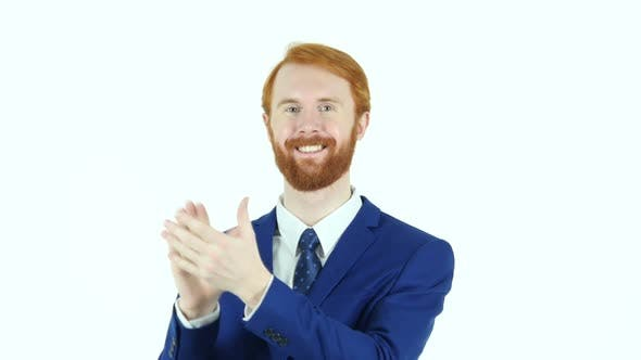 Thumbnail for Clapping Red Hair Beard Businessman