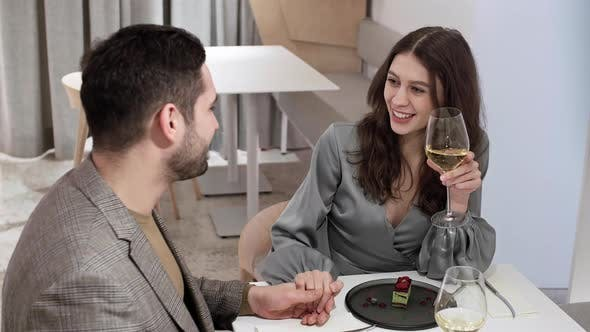 Thumbnail for Couple Having Romantic Date in Restaurant