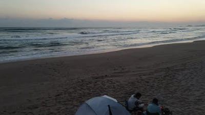 Camping Tent Morning