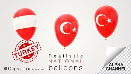Turkey Flag Balloons