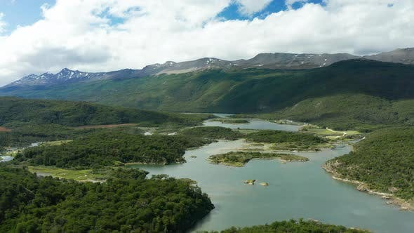 Thumbnail for Tierra Del Fuego National Park, Aerial View of Bay Lapataia. Ushuaia, Argentina.