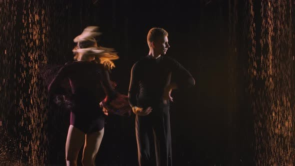 Thumbnail for Emotional and Graceful Latinamerican Dance Jive Performed By Graceful Couple. Dancing Partners on a