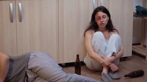 Drunk Man Lying on the Floor