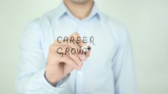 Thumbnail for Career Growth, Writing On Screen