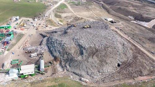 Gigantic Landfill Near a City