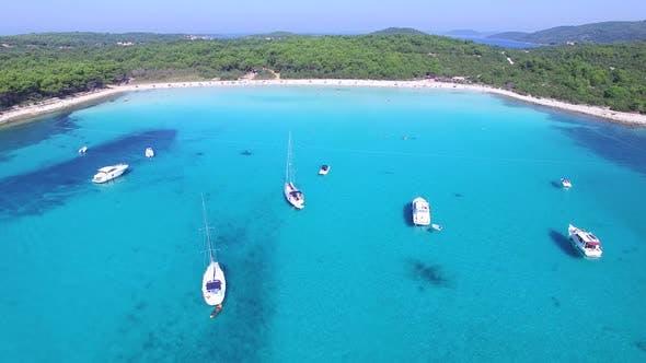 Thumbnail for Boating in idyllic coastal scene
