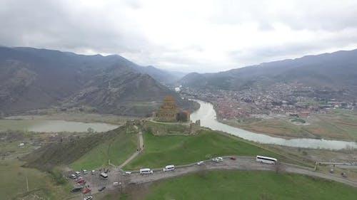 Mtskheta Jvari Aerial View