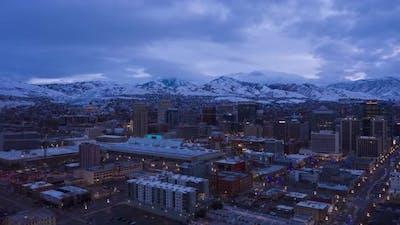 Salt Lake City Downtown in Winter