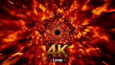 Burning Fire Tunnel 4K