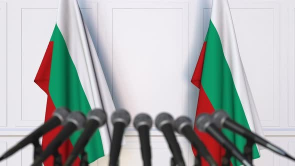 Thumbnail for Bulgarian Official Press Conference with Flags