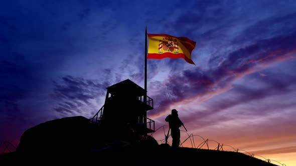 Thumbnail for Spanish Soldier On The Border At Night At The Border