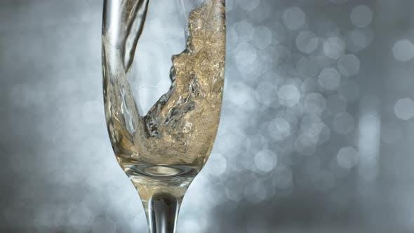 Pouring champagne in super slow motion.  Shot on Phantom Flex 4K high speed camera.