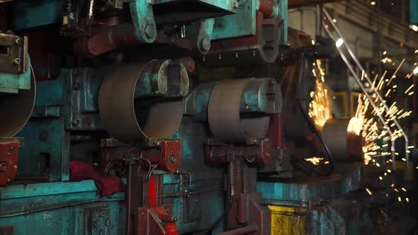 Thumbnail for Automated Welding Machine in a Workshop of a Steel Wheel Production Plant.