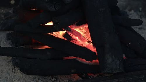 Barbecue Coail Fire Flames And Ashes 1