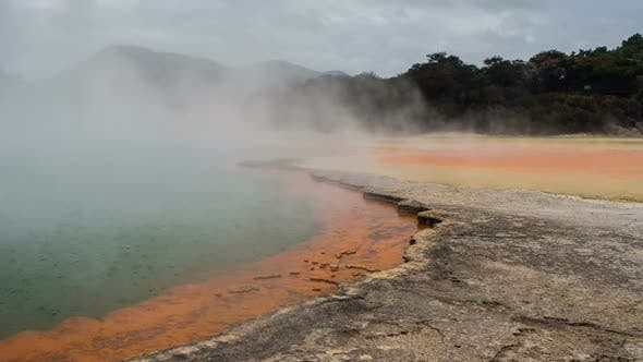 Thumbnail for Champagne Pool from Wai-O-Tapu Park, New Zealand