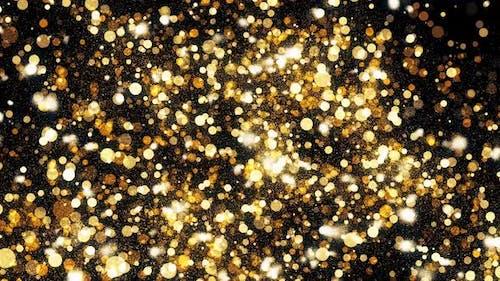 Golden Christmas Glitters 4k