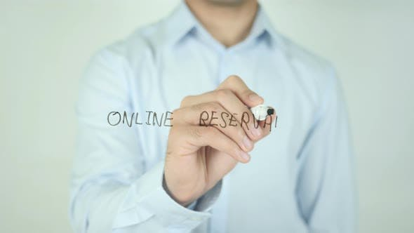 Online Reservation, Writing On Screen