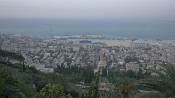 Haifa seen from Baha'i Gardens