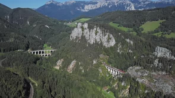 Thumbnail for Aerial Panorama of Semmering Railway, Austria