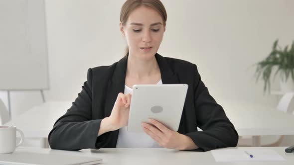 Thumbnail for Young Businesswoman Using Tablet