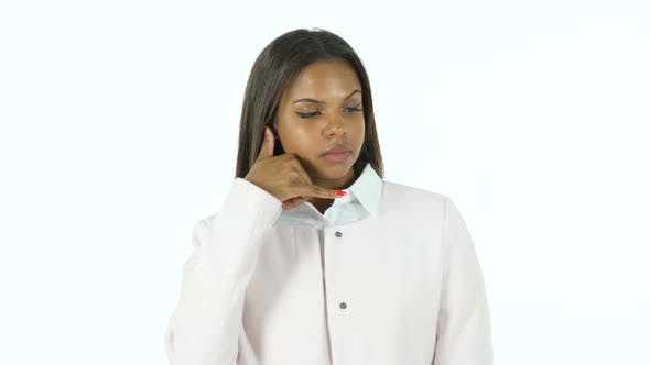 Cover Image for Call Us for Help, Afro-American Woman Gesture