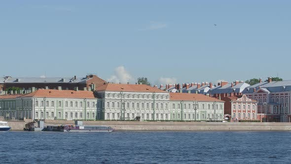 Thumbnail for Palace Of Peter Ii (State University) And Neva River In The Summer - St. Petersburg, Russia