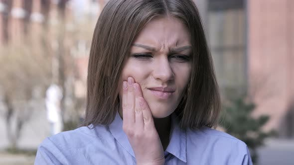 Thumbnail for Toothache, Young Woman with Tooth Infection