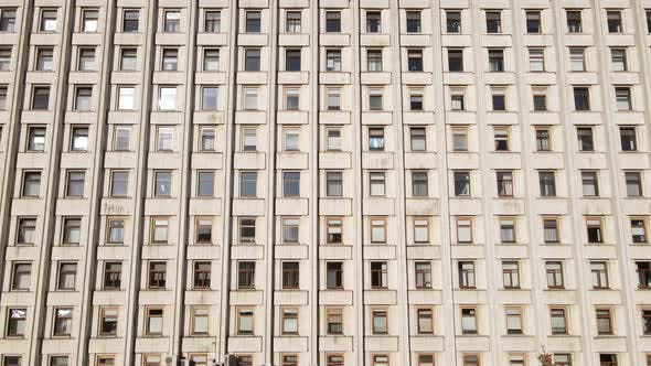 Thumbnail for Urban Architecture: Many Windows of a Building. Slow Motion