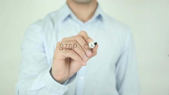 Thumbnail for Stop GMO, Writing On Screen